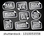 sale stickers set   huge... | Shutterstock .eps vector #1310053558