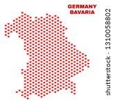 mosaic bavaria land map of...   Shutterstock .eps vector #1310058802