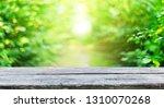 empty wooden table background | Shutterstock . vector #1310070268