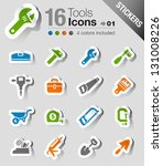 stickers   tools and... | Shutterstock .eps vector #131008226