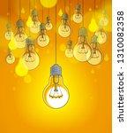 light bulbs beautiful vector... | Shutterstock .eps vector #1310082358