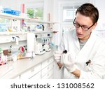 young scientist in the lab...   Shutterstock . vector #131008562