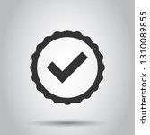 approved certificate medal icon ...   Shutterstock .eps vector #1310089855
