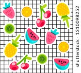 tropical fruits doodle color... | Shutterstock .eps vector #1310098252