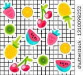 tropical fruits doodle color...   Shutterstock .eps vector #1310098252