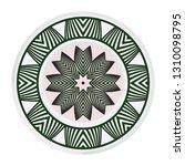round floral ornament mandala.... | Shutterstock .eps vector #1310098795