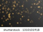 abstract golden shining bokeh... | Shutterstock .eps vector #1310101918