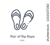 pair of flip flops icon from... | Shutterstock .eps vector #1310107282