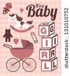 it's a baby girl template... | Shutterstock .eps vector #131010752