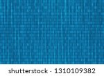 vector seamless pattern. binary ... | Shutterstock .eps vector #1310109382