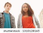 two ethnic diverse teenager...   Shutterstock . vector #1310128165