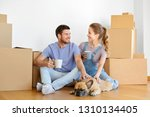 mortgage  people and real... | Shutterstock . vector #1310134405