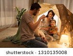 family  hygge and people... | Shutterstock . vector #1310135008