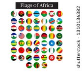 set of world flags round badges.... | Shutterstock .eps vector #1310136382