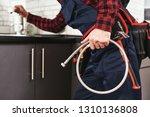 new plumbing. close up of... | Shutterstock . vector #1310136808