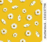 seamless background with daisy... | Shutterstock .eps vector #1310137798
