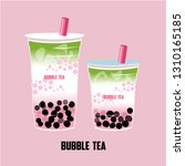 the bubble tea  pearl milk tea  ... | Shutterstock .eps vector #1310165185