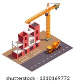 townhouse buildings isometric... | Shutterstock .eps vector #1310169772