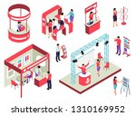 trade exhibition isometric set... | Shutterstock .eps vector #1310169952