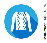 men jumper clothes icon with...