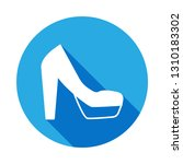 platform high heels shoes icon...