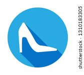 high heels shoes icon with long ...