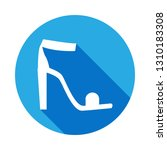 high heeled sandal icon with...