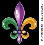 fleur de lis mardi gras symbol... | Shutterstock .eps vector #1310186062