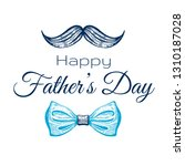 happy father's day card. cute... | Shutterstock .eps vector #1310187028