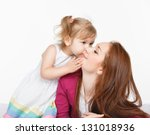 happy woman and young girl ...   Shutterstock . vector #131018936