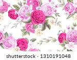 seamless pattern with vintage... | Shutterstock .eps vector #1310191048