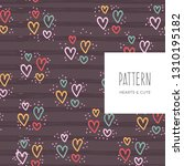 repeated hearts drawn by hand.... | Shutterstock .eps vector #1310195182
