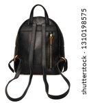 black leather backpack | Shutterstock . vector #1310198575