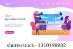 smart farmer controlling... | Shutterstock .eps vector #1310198932