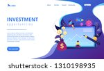 investment managers with... | Shutterstock .eps vector #1310198935