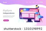 developers use software on... | Shutterstock .eps vector #1310198992