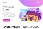 borrower making mortgage... | Shutterstock .eps vector #1310199028
