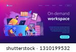 businessmen use workspace with... | Shutterstock .eps vector #1310199532