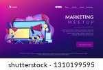 marketeers learning from fellow ... | Shutterstock .eps vector #1310199595