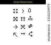 arrow theme icon with line style