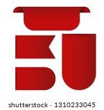 red web ribbons set  vector...   Shutterstock .eps vector #1310233045