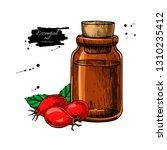 rosehip essential oil bottle... | Shutterstock .eps vector #1310235412