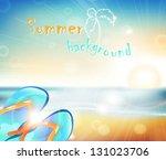landscape sunset on the... | Shutterstock .eps vector #131023706