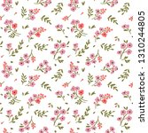 vintage floral background.... | Shutterstock .eps vector #1310244805
