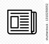 newspaper vector line web... | Shutterstock .eps vector #1310250052