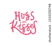 hugs and kisses. valentines day ...   Shutterstock .eps vector #1310250748