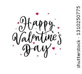 happy valentines day lettering. ...   Shutterstock .eps vector #1310250775