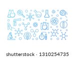 chemistry education blue... | Shutterstock .eps vector #1310254735