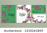 vector floral color spring... | Shutterstock .eps vector #1310261845