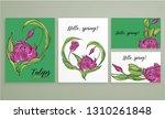 vector floral color spring... | Shutterstock .eps vector #1310261848